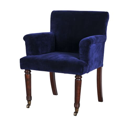 Blue Accent Chair With Arms by Furniture Blue Upholstered Chair With Arm And Back Rest