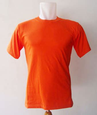 Kaos Polos Ukuran S Warna Orange kaos distro polos bahan katun warna orange jual grosir