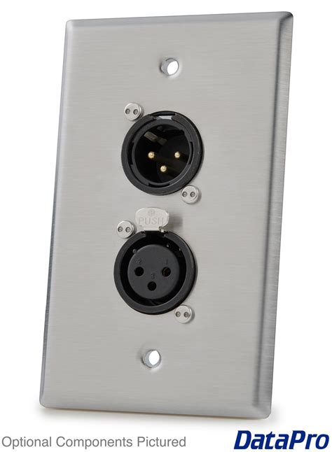 Wallplate Faceplate Stanlees 1 Xlr wall plate with dual neutrik xlr datapro