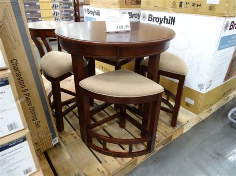 Costco Dining Room Sets by Broyhill Lenoir 5 Piece Counter Height Dining Set