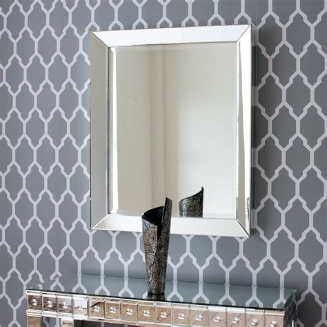 deep all glass bathroom mirror by decorative mirrors large bevelled all glass mirror