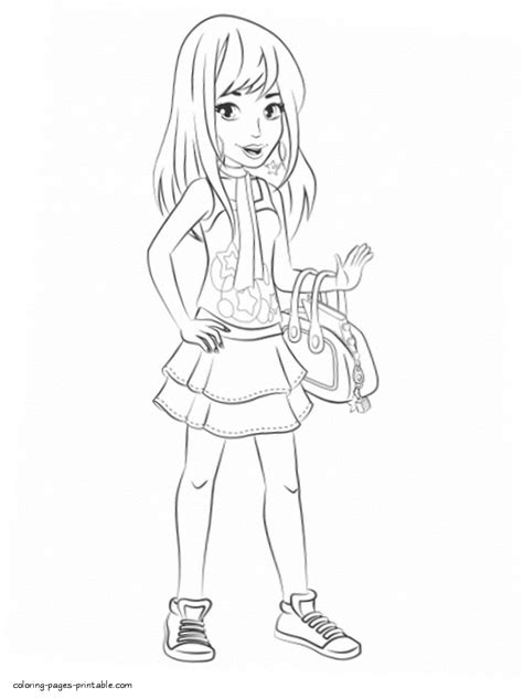 lego friends stephanie coloring pages stephanie printable lego friends coloring pages