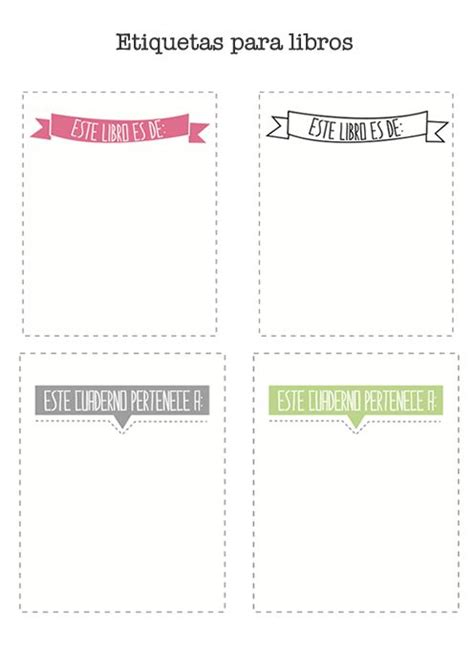 etiquetas para poner nombre a los cuadernos colorear m 225 s de 25 ideas fant 225 sticas sobre plantillas de etiquetas