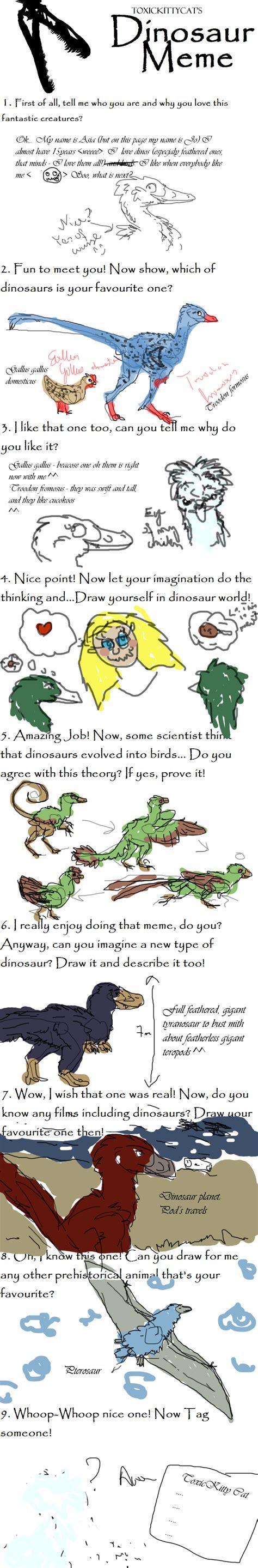 Dinosaur Memes - dinosaur meme by bluefluffydinosaur on deviantart
