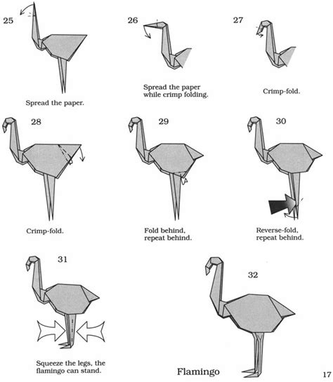Origami Flamingo - welcome to dover publications