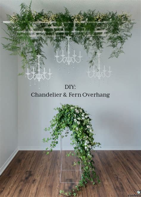 diy rustic chandelier diy rustic glam chandelier and fern overhang confetti co uk