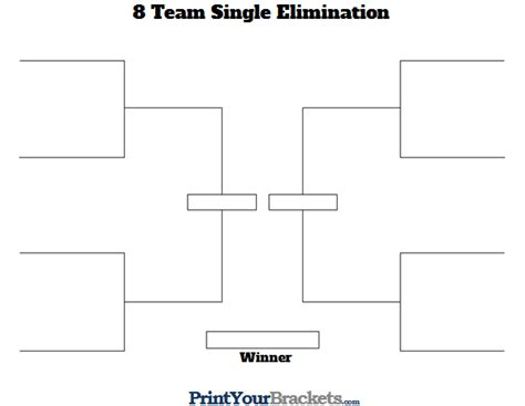 tournament layout template 8 team single elimination printable tournament bracket