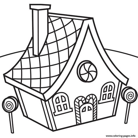 printable house images candy house coloring pages printable