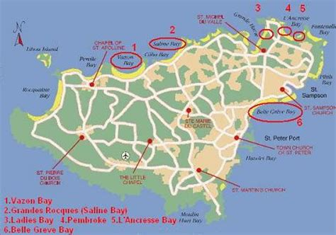 0004490363 carte touristique jersey en carte de guernesey