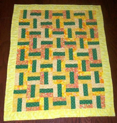Rail Fence Baby Quilt Pattern by Green Yellow Rail Fence Baby Quilt Quilts Rail