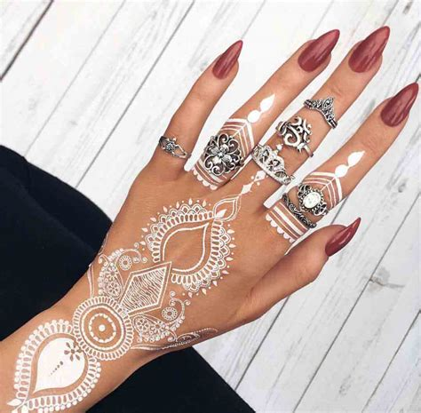 white henna tattoo on hand the best mehndi designs for livinghours