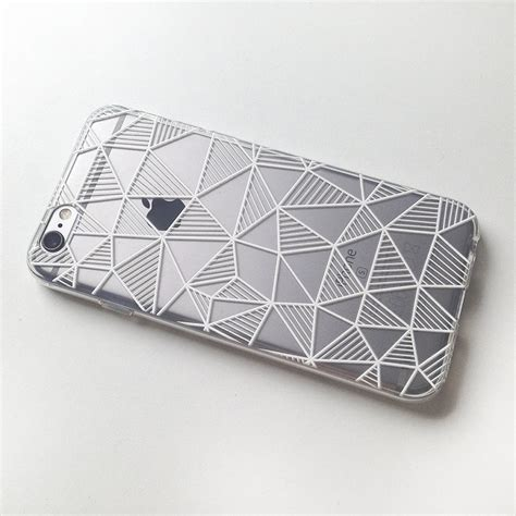 Iphone 7 7 Volcom Stripe Black Cover Casing Hardcase geometric stripes triangle black and white soft clear