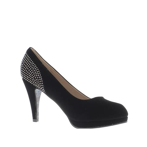 Heels 10cm shoes large size black 10cm heels and platform with
