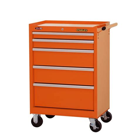 stanley 24 in w 5 drawer tool cabinet stanley 27 in w 5 drawer tool cabinet orange h5trso
