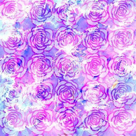 pink watercolor pattern quot pink purple and blue floral watercolor pattern quot by