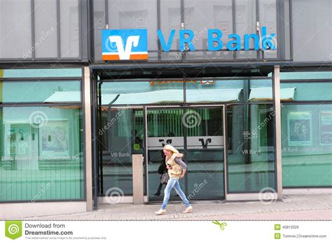 vr bank hamburg vr bank editorial photo