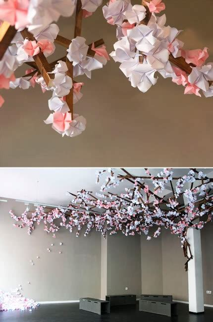 Origami Cherry Blossoms - way cool origami cherry blossom tree crafty