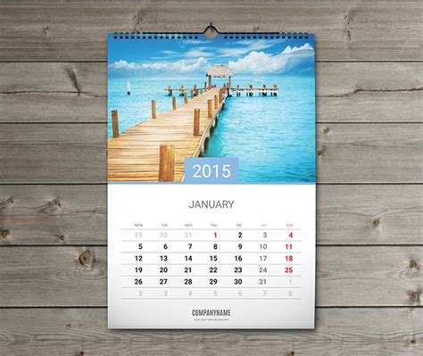 12 sheets monthly wall calendar 2015 template w7 on behance