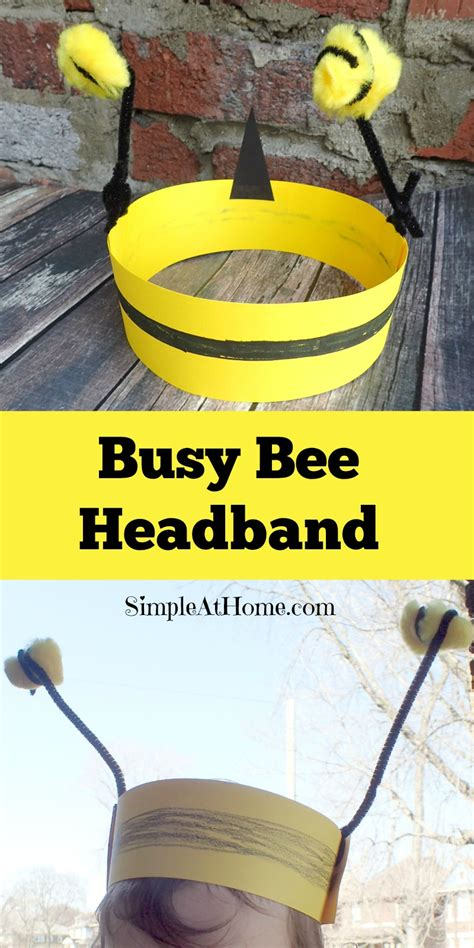 busy bee crafts busy bee headband craft and cleaning simple