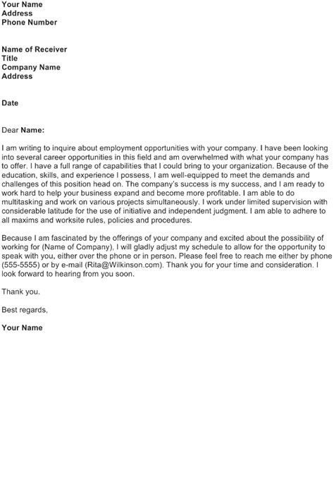 cover letter for general application application letter for general