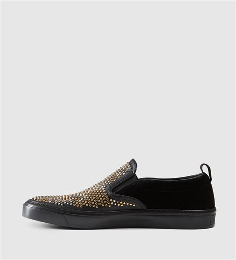 Wedges Shoes Slip On Gucci Sds175 gucci leather slip on sneaker with snake pattern in black