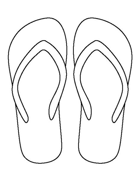 flip flop template 141 best images about bestanden silhouette on
