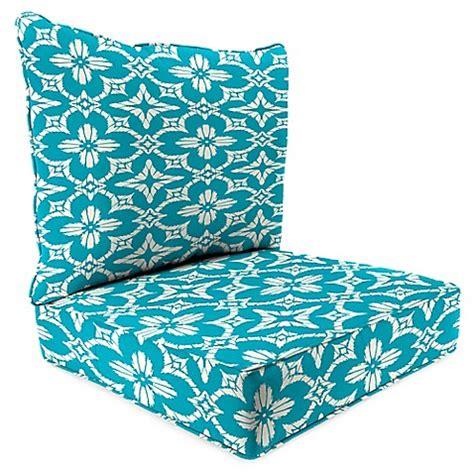 outdoor 2 piece deep seat cushion in aspidora turquoise