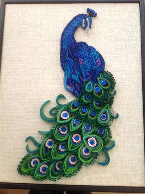 pattern quilling paper quilling peacock google search painting
