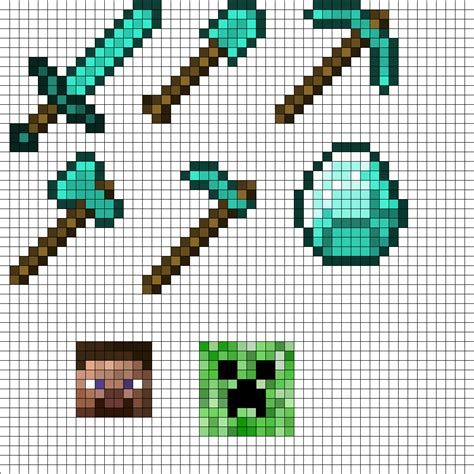 perler bead minecraft patterns minecraft tool set perler bead pattern bead sprites