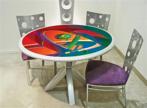 colorful dining room table ideas with contemporary