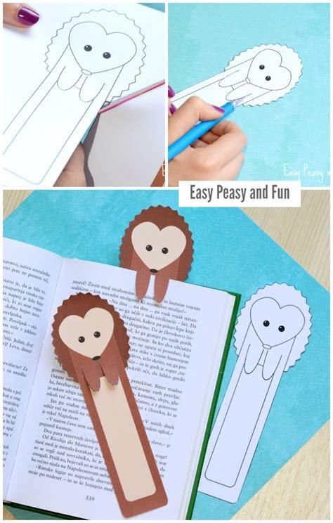 hedgehog bookmarks printable hedgehog bookmarks easy peasy and fun