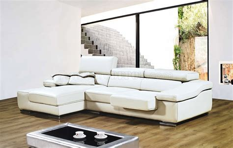 contemporary white leather sectional full leather modern sectional sofa a567 white