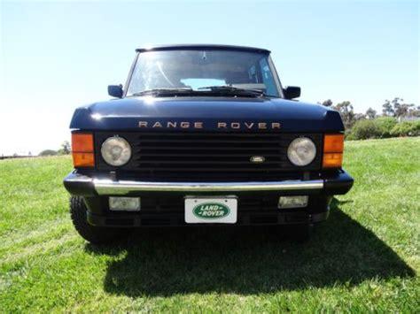 buy car manuals 1993 land rover range rover regenerative braking buy used 1993 land rover range rover county lwb sport utility 4 door 4 2l in san diego