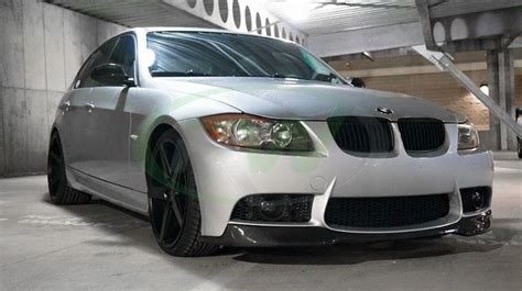 bmw 325i style changes bmw e90 e91 v style carbon fiber front lip spoiler for m3