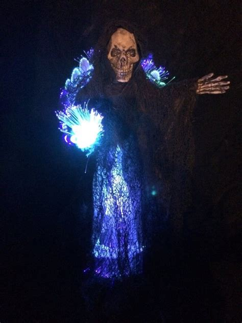 skull christmas tree topper grim reaper fiber optic tree topper creepbay
