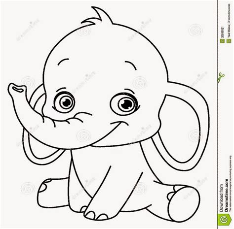 printable coloring pages elephant easy elephant coloring coloring pages