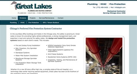 great lakes plumbing heating website chicago il
