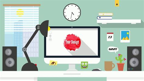motion graphics after effects 2d youtube vector flat home office cartoon after effect 2d flat