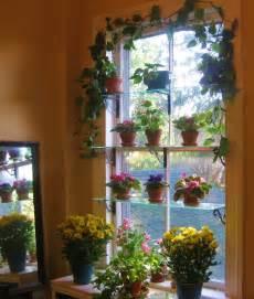 Steps to a window garden