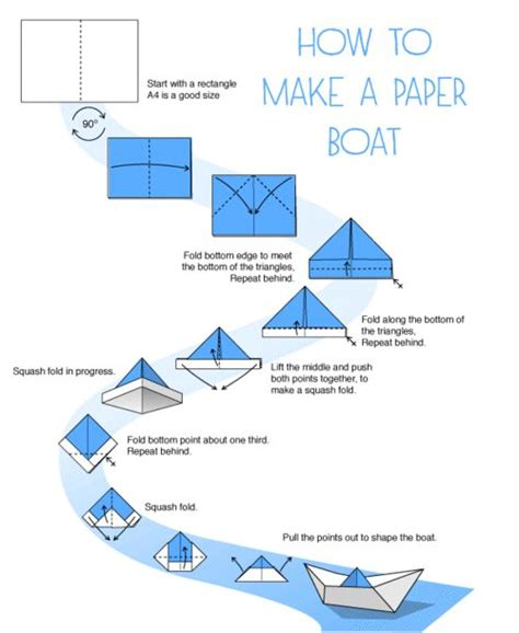 Paper Canoe Craft - how to make a paper boat kid stuff diy and