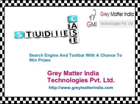 Study On Search Engine Study On Search Engine And Toolbar With A Chance To Win Prizes