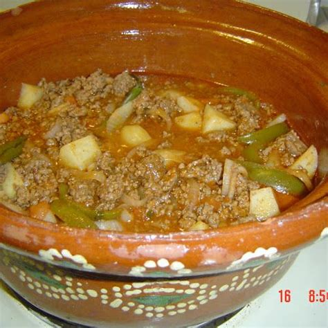 authentic mexican recipe 'picadillo' ground beef | food