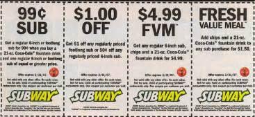 Subway printable coupons february 2016