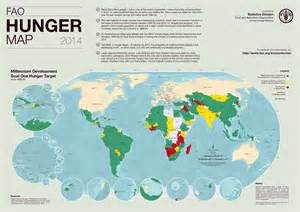 fao hunger map 2014 world reliefweb