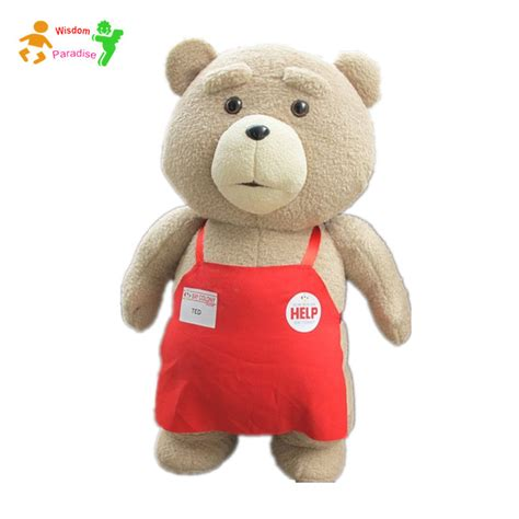 2015 teddy ted 2 plush toys in apron 48
