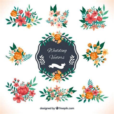 cute wedding decoration vector free download wedding decoration in floral style vector free download