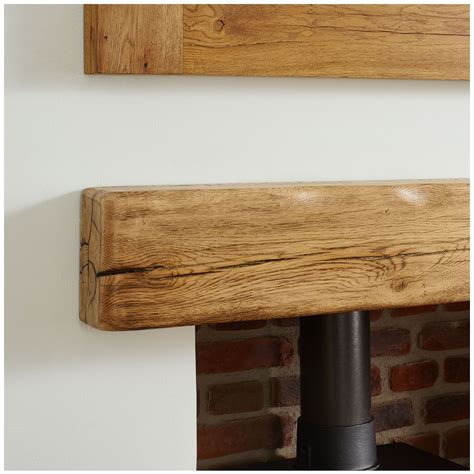 Rustic Oak Mantel Shelf by Oak Mantel Shelf Aged Flamed Rustic Solid Beam
