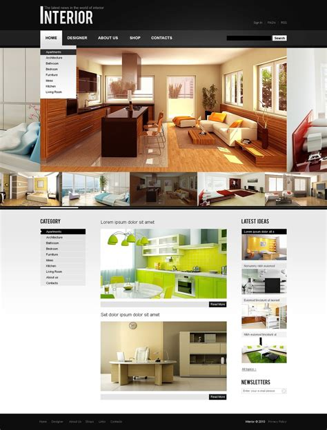 interior design joomla template 30159