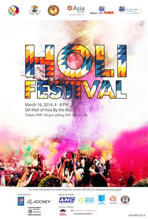 holi festival  colors manila asia society