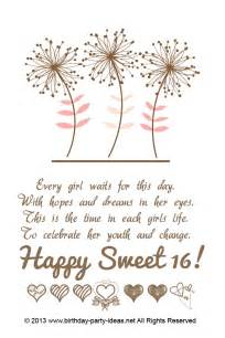 16th birthday quotes for girls quotesgram